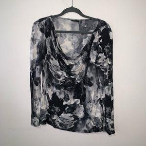 Scoop Neck Watercolor Shirt